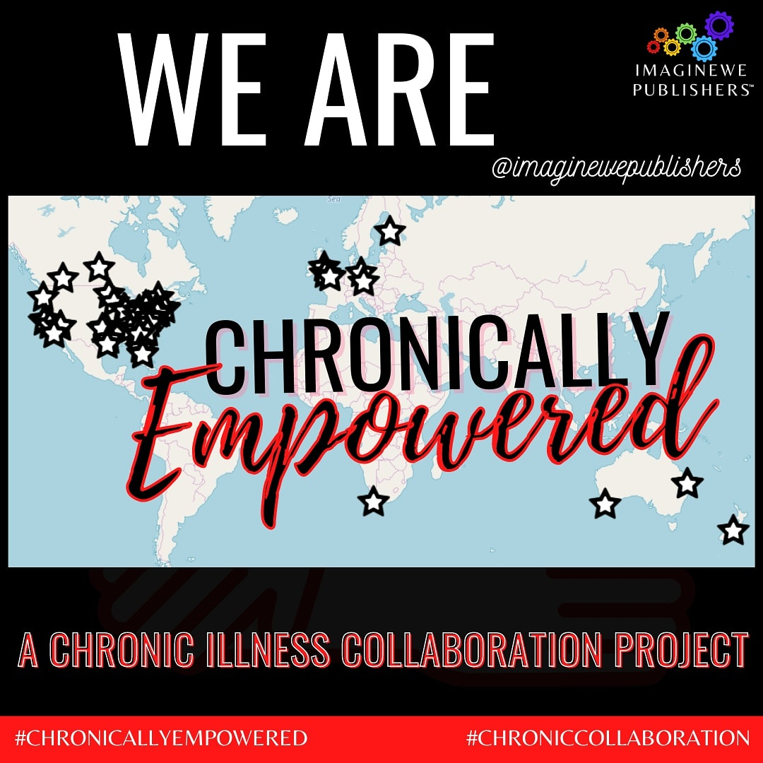 Very excited to be a part of this wonderful #chronicillness collaboration with ImagineWe Publishers . My Story will be included with over 60 other international authors, in a book to be released later in the year. This image shows where all the collaborators to the book are located. We are a global team and I'm both proud and honoured to represent Brisbane, Queensland Australia #chronicallyempowered #chroniccollaboration @imaginewepublishers